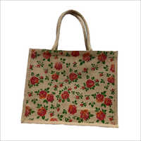 Jute Printed Hand Bags