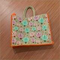 Jute Printed Hand Bag