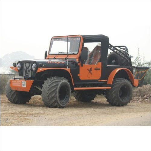 Monster Tyre Modified Jeep