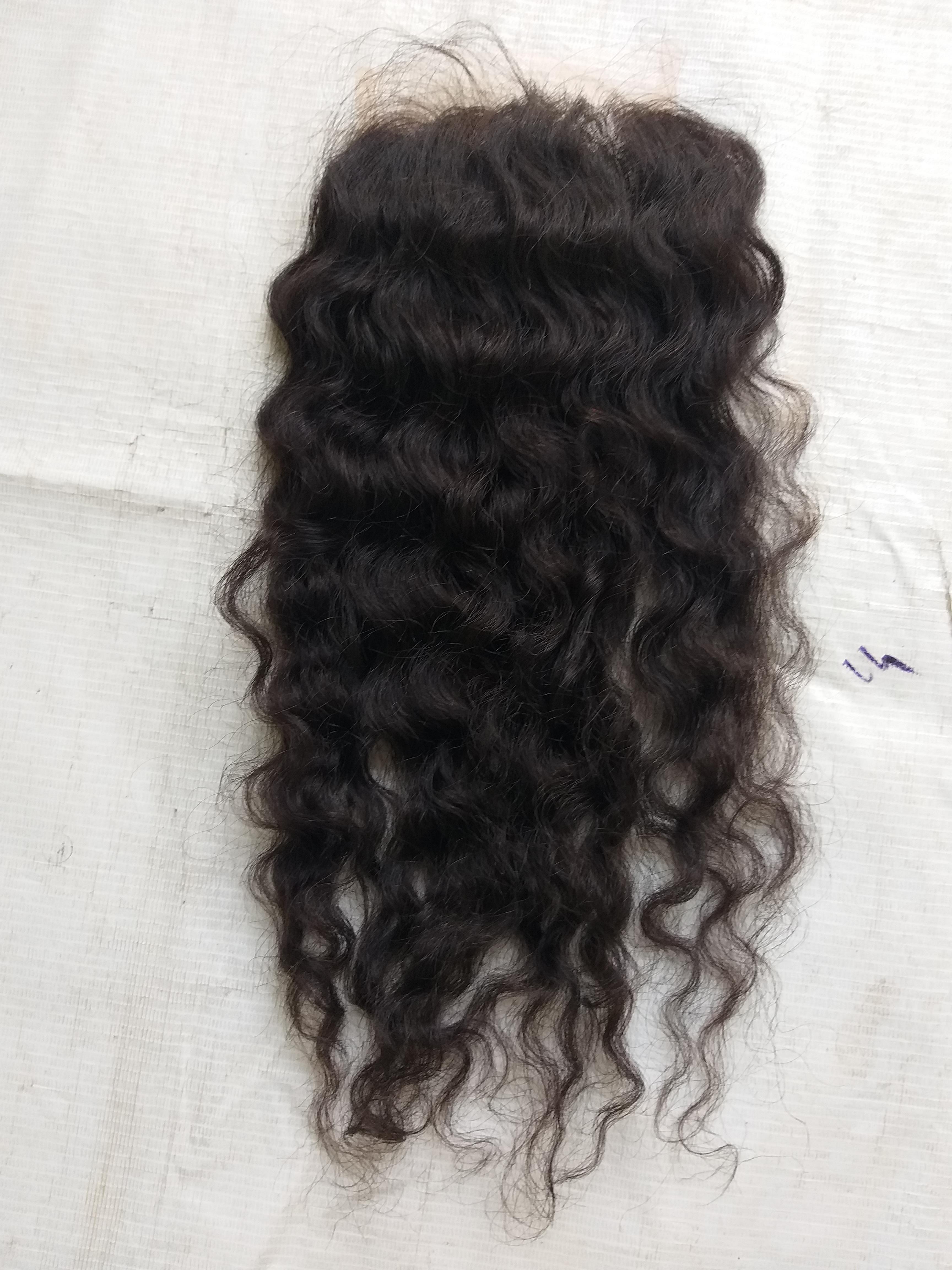 Raw Wavy Human  Hair Lace Closure 4x4