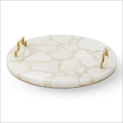 White Quartz Trays