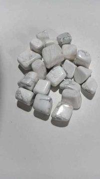 White Hawolite Tumbled Stone