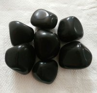 Black Agate tumbled stone