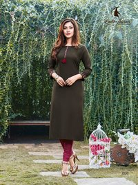 Serena Vol-3 Rayon with Embroidery Work Kurtis