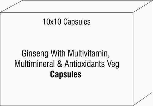 Ginseng With Multivitamin Multimineral & AntioxidantsVeg Capsule