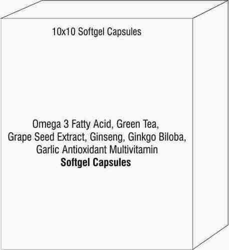 Omega 3 Fatty Acid Green Tea Grape Seed Extract Ginseng Girbo Bioba Garlic Antioxidant Multivitamin