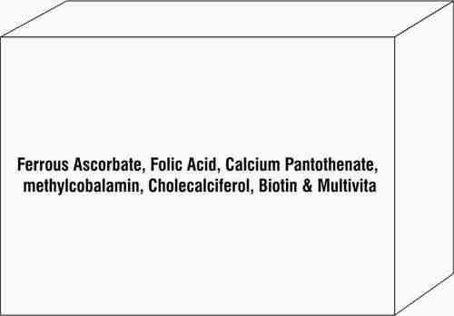 Ferrous Ascorbate Folic Acid Calcium Pantothenate methylcobalamin Cholecalciferol Biotin & Multivita