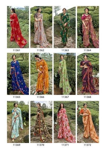 Imli Designer Weightless Printed Party Wear Sarees