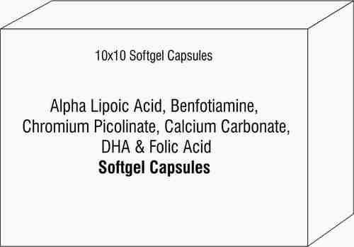 Alpha Lipoic Acid Benfotiamine Chromium Picolinate Calcium Carbonate DHA Folic Acid