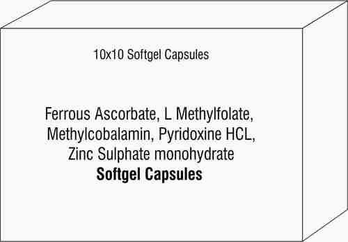 Ferrous Ascorbate L Methylfolate Methylcobalamin Pyridoxine HCL Zinc Sulphate monohydrate