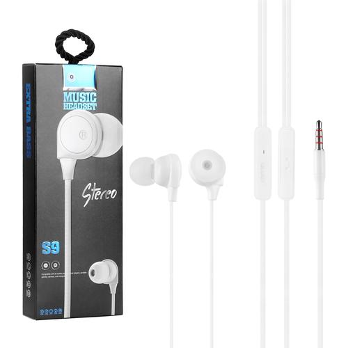 Bluei Shook S9 3.5mm Jack Heavy Bass Superior Sound Stereo Earphone
