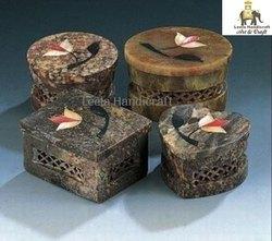 Soap Stone Inlay Box