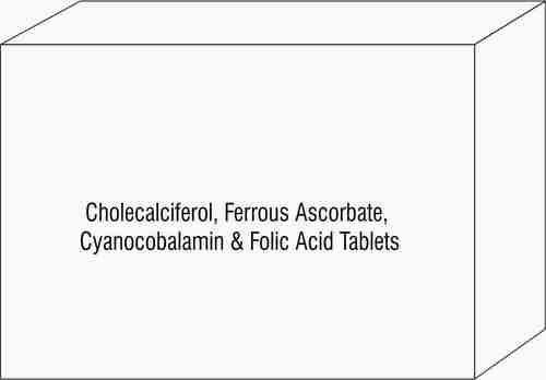 Cholecalciferol Ferrous Ascorbate Cyanocobalamin & Folic Acid Tablets