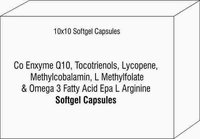 Co Enxyme Q10 Tocotrienols Lycopene Methylcobalamin L Methylfolate & Omega 3 Fatty Acid Epa L Argin