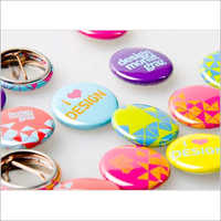 Metallic Button Badges