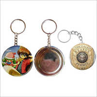 Button Badge Key Chain