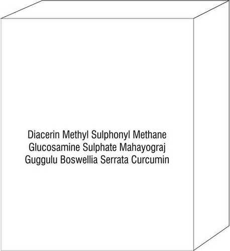 Diacerin Methyl Sulphonyl Methane Glucosamine Sulphate Mahayograj Guggulu Boswellia Serrata Curcumin