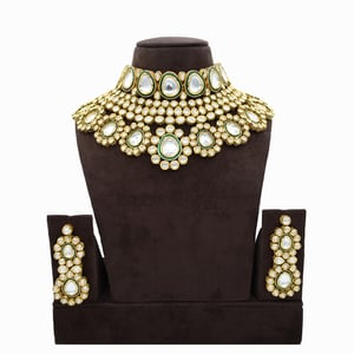 Semi Bridal Kundan Necklace Set