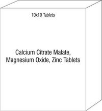 Calcium Citrate Malate, Magnesium Oxide, Zinc Tablets