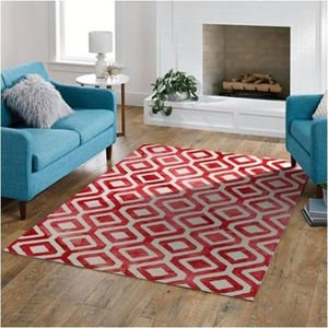 Mariel Red Dip Dyed Hand Tufted Carpet