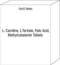 L- Carnitine, L-Tartrate, Folic Acid, Methylcobalamin Tablets