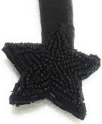 Black Hanging Star Regular Salli Border