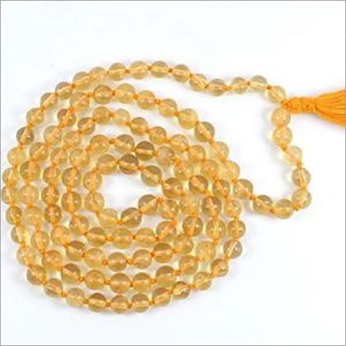 Natural Citrine 8 Mm 109 Beads Mala