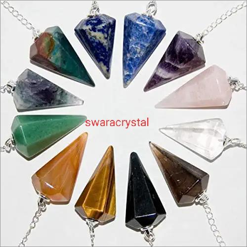 crystal  Agate Pendulum