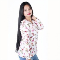 White Red Flowers Top