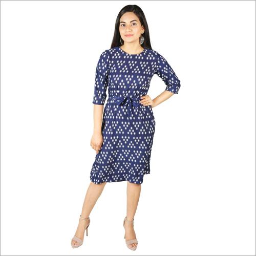 Ladies Rayon Mini Dress