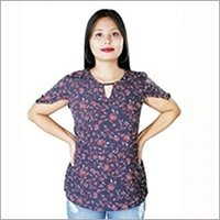 Ladies Printed Rayon Top