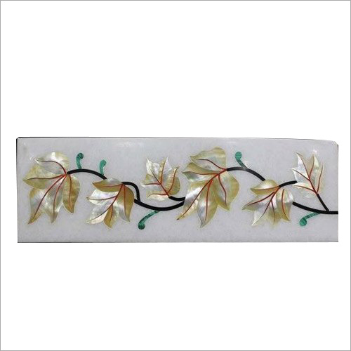 Marble inlay floral borders