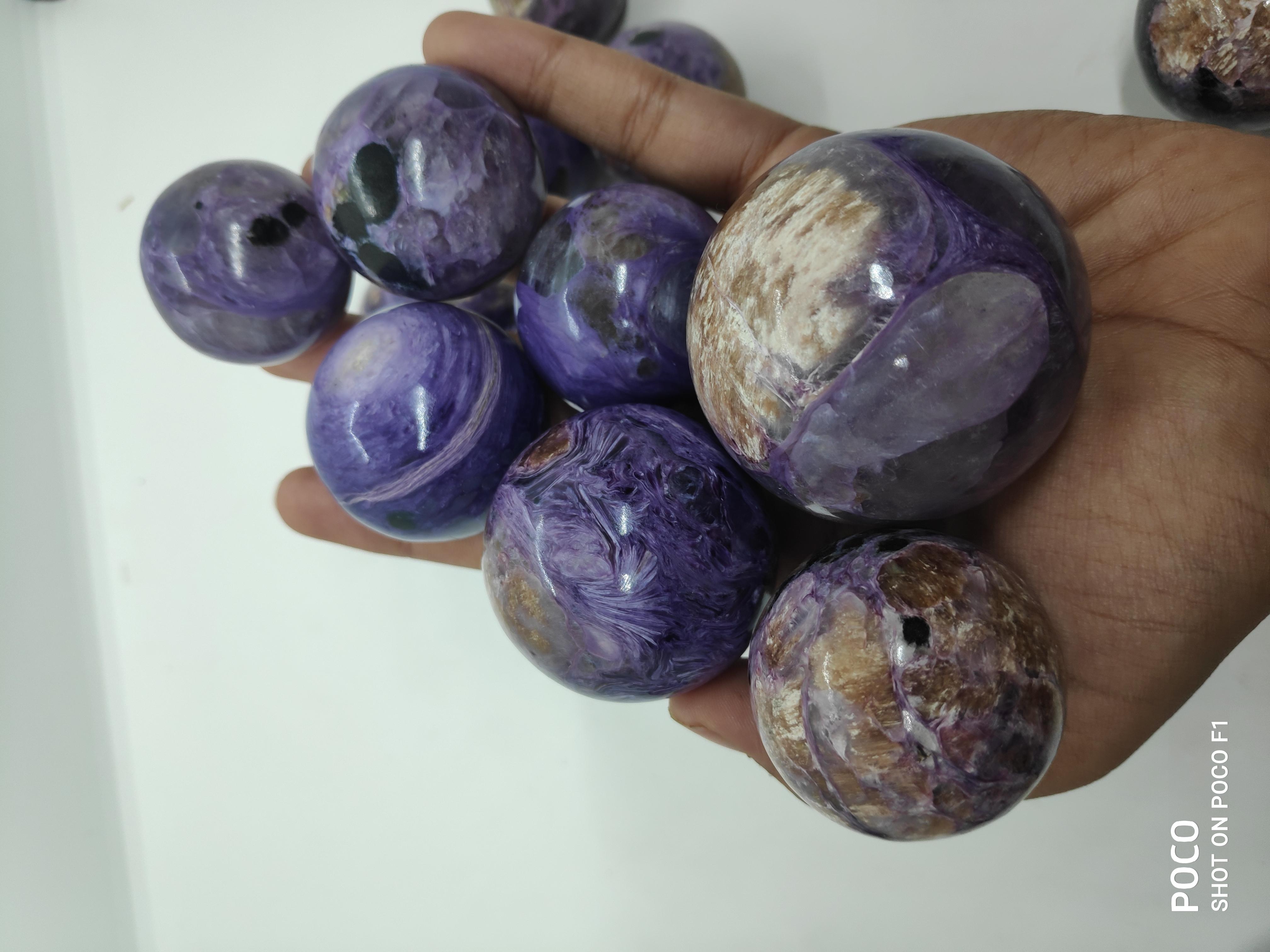 Charoite Spheres Gemstones