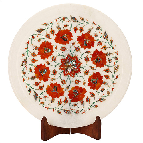 Marble inlay decorative plates