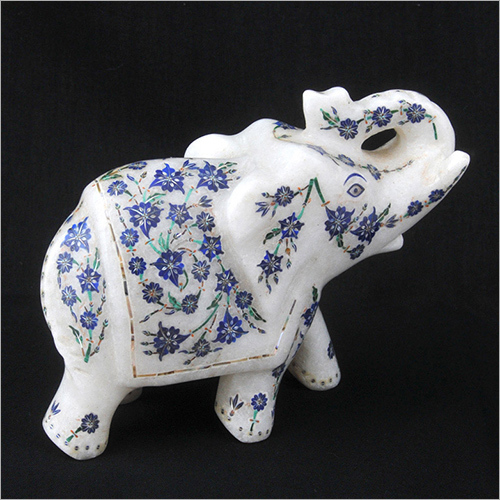 Decorative Marble Inlay Elephant