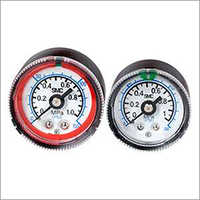 Pressure Gauge with Color Zone Limit Indicator