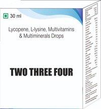 Lycopene L Lysine Multivitamins & Multiminerals Drops