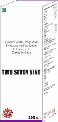 Potassium Citrate Magnesium Pyridoxine Hydrochloride D Mannose & Cranberry Syrup