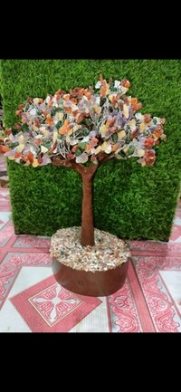Multi color Agate Stone Tree