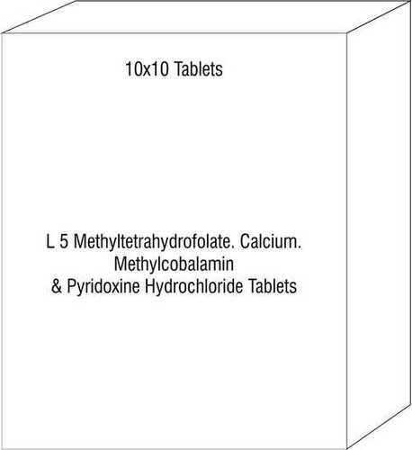 L 5 Methyltetrahydrofolate Calcium Methylcobalamin & Pyridoxine Hydrochloride Tablets