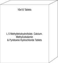 L 5 Methyltetrahydrofolate Calcium Methylcobalamin & Pyridoxine Hydrochloride Tablets