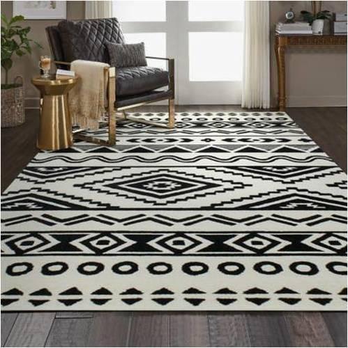 Conrad Black Tribal Hand Tufted Carpet