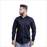 Mens Full Sleeves Plain Casual Shirts