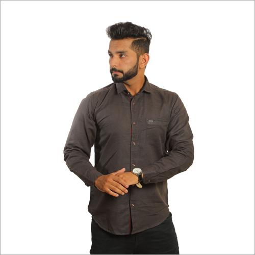 Mens Linen  Plain Casual Shirts