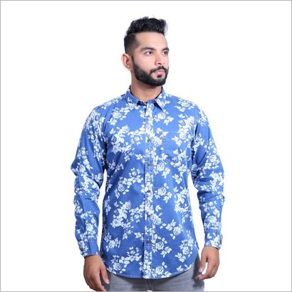 Washable Mens Printed Party Wear Shirts