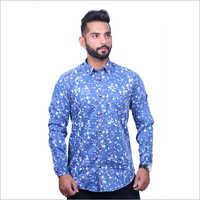 Mens Denim Printed Cotton Casual Shirts