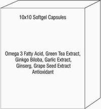 Omega 3 Fatty Acid Green Tea Extract Ginkgo Biloba Garlic Extract Ginserg Grape Seed Extract Antioxi