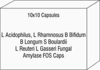 L Acidophilus L Rhamnosus B Bifidum B Longum S Boulardii L Reuteri L Gasseri Fungal Amylase FOS Caps