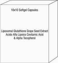 Liposomal Glutathione Grape Seed Extract Acido Alfa Lipoico Cevitamic Acid & Alpha Tocopherol