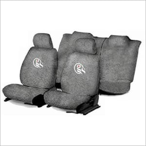 Grey Cotton Car Seat Cover